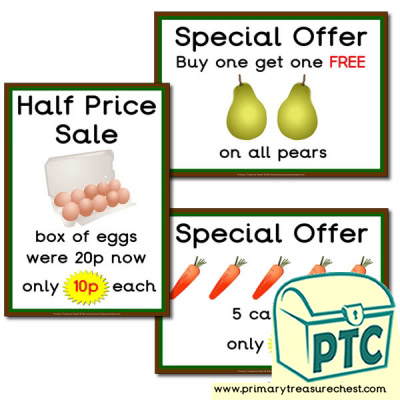 Farm Shop Role Play Special Offers (1-20p)