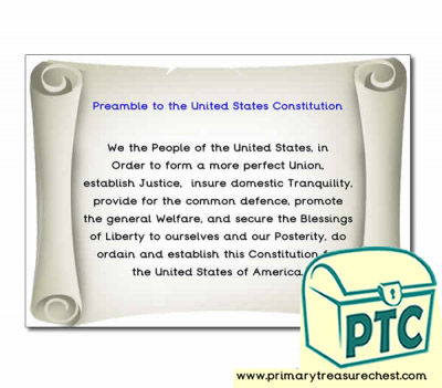 Constitution Preamble Poster