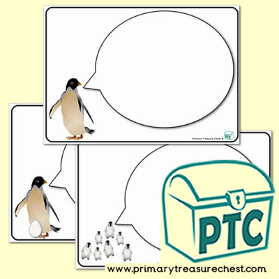 Penguin themed Speech Bubble Worksheet - Penguin Awareness Day Resources