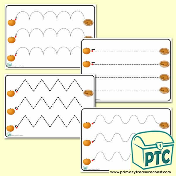 Pumpkin Pre-Writing Patterns