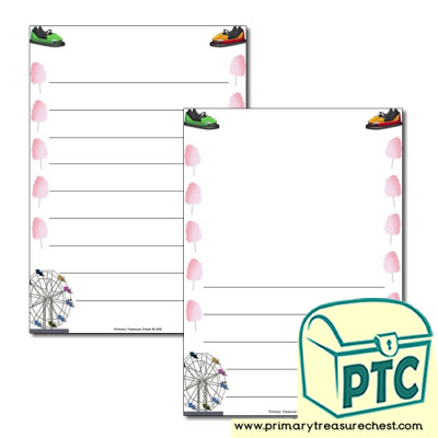Fairground Page Border/Writing Frame (wide lines)
