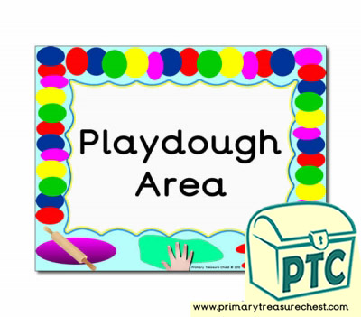 Playdough Area Classroom Sign