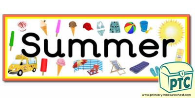 'Summer' Display Heading/Banner