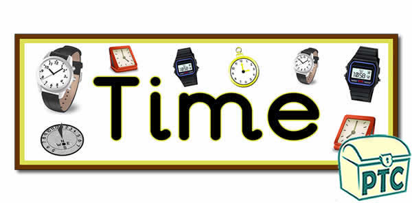 'Time' Display Heading / Classroom Banner