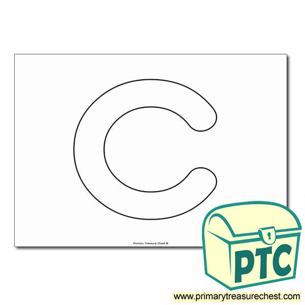 'c' Lowercase Bubble Letter A4 Poster - No Images