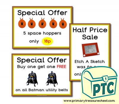 1960s Toy Shop Special Offers (1-20p)