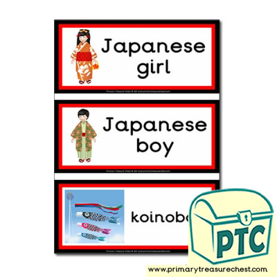 Japanese Children's Day Themed Flashcards