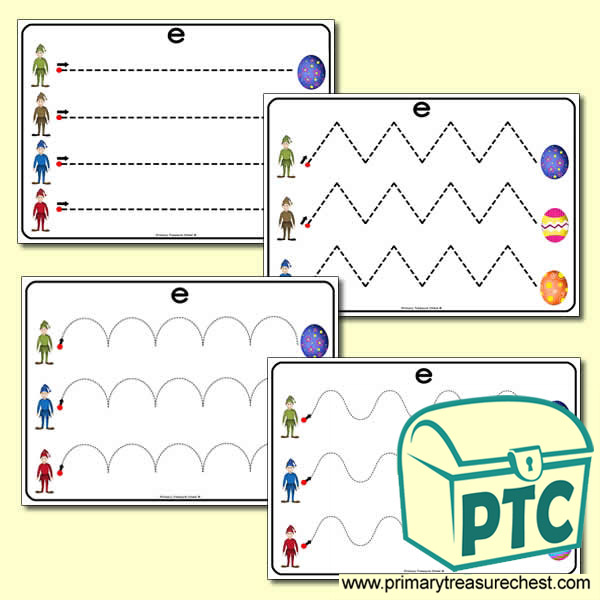 'Ee' Themed Pre-Writing Patterns Activity Sheets