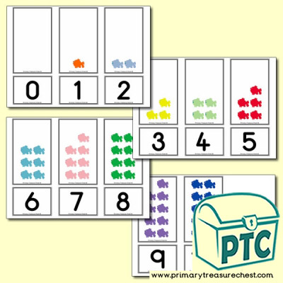 Coloured Fish  Number Shapes Matching Cards 0 to 10