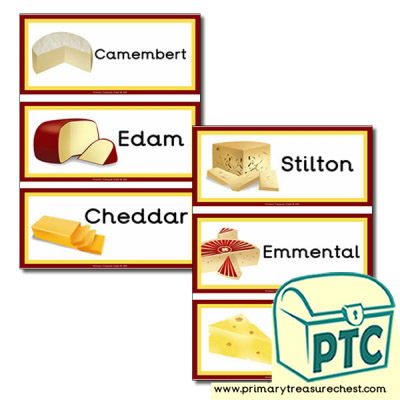 Cheese Themed Flashcards