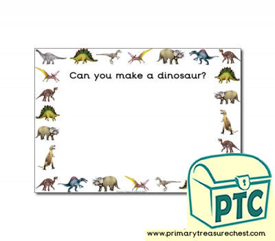 Dinosaur Themed Topic Playdough Mats