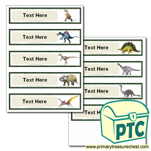 Various Dinosaur Themed Pupil Drawer Labels (Small)