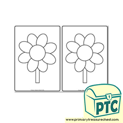 Scissor Control -Flowers  Colour and Cut  - Teacher Worksheets