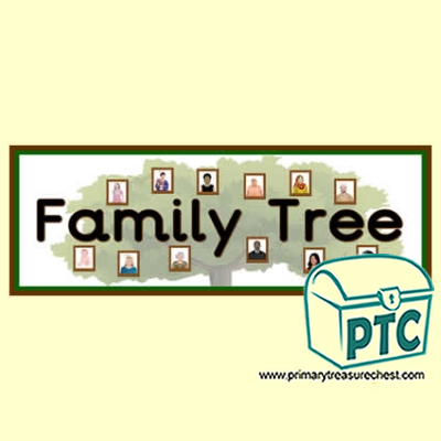 Family Tree Classroom Banner / Display Heading