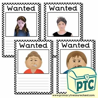 Role Play US Police Blank Wanted Poster