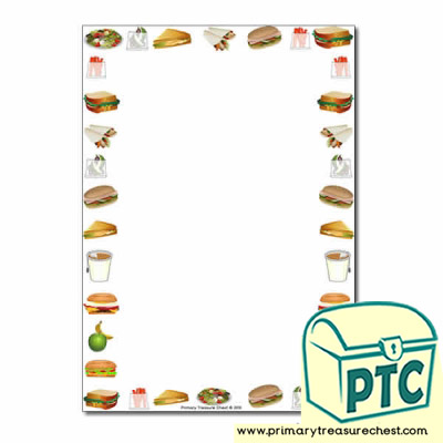 Sandwich Shop Themed Page Border/Writing Frame (no lines)