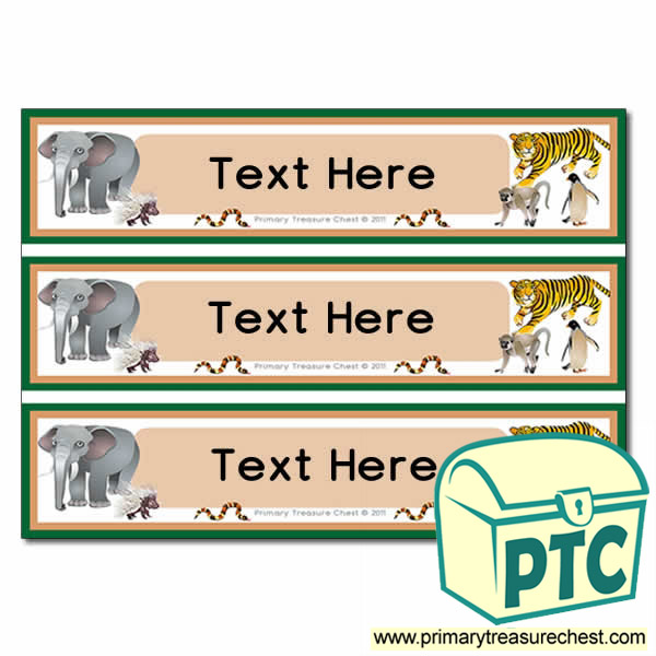 Animal Themed Pupil Drawer Labels (Large)