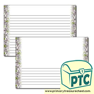 Cherry Blossom Landscape Page Border - Narrow Lines