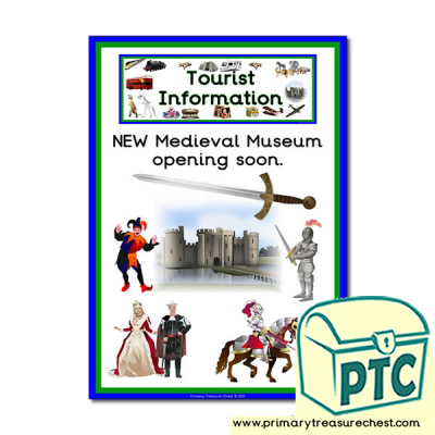 Medieval Museum Tourist Information Themed Poster