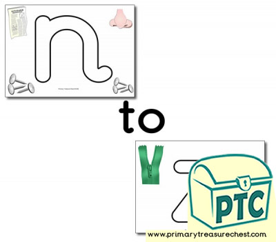 Alphabet Playdough Mats - Lower Case (n-z)  with images