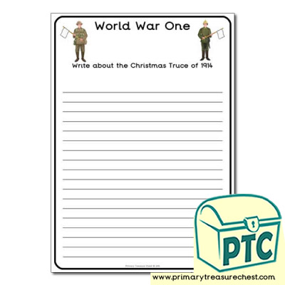 World War One Christmas truce Worksheet