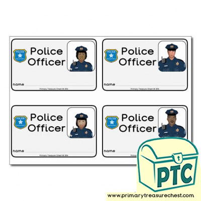 Role Play Police Officer ID Badges