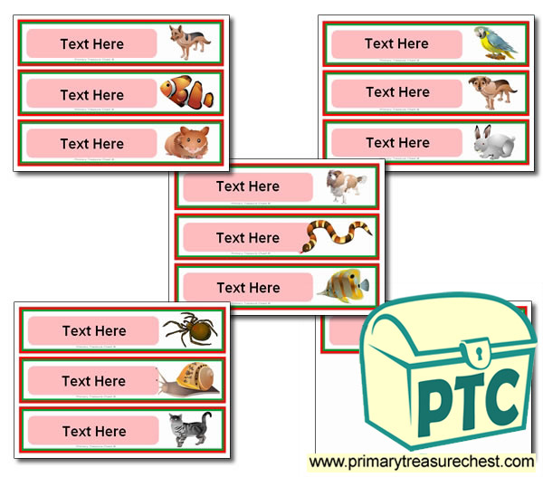 Pets Pupil Drawer Labels (Large)
