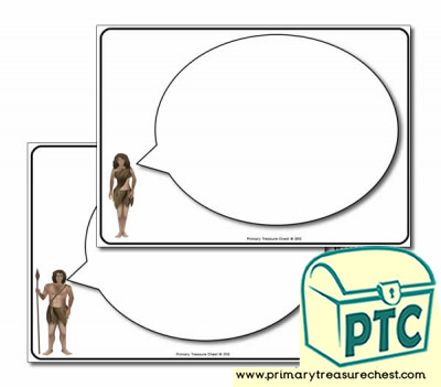 Early Man Themed Speech Bubbles Worksheets