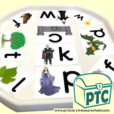 Forest – Fairy Tales, Castles, Dragons & Princesses Themed Phonics Tuff Tray Cards