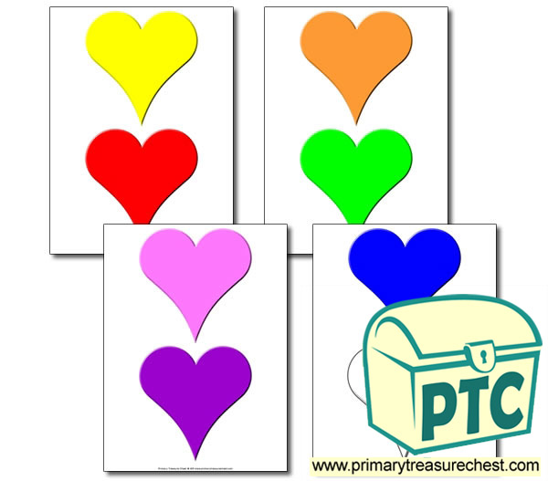 Heart Sorting Activity (Medium Hearts)