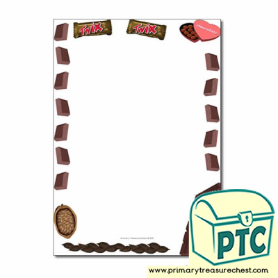 Chocolate Themed Page Borders/Writing Frames (no lines)
