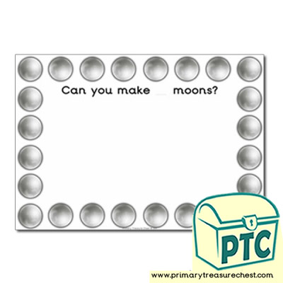Moon Themed Playdough Mat