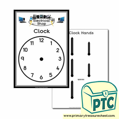 Electrical Shop Role Play Clock