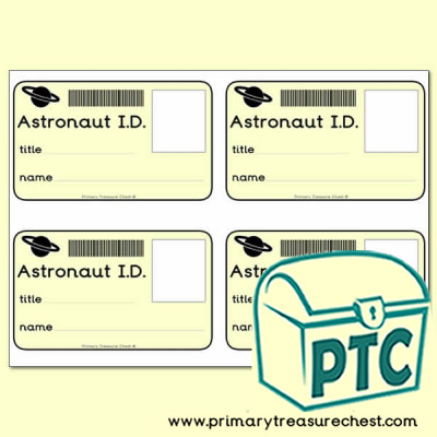 Role Play Construction Site ID Badges