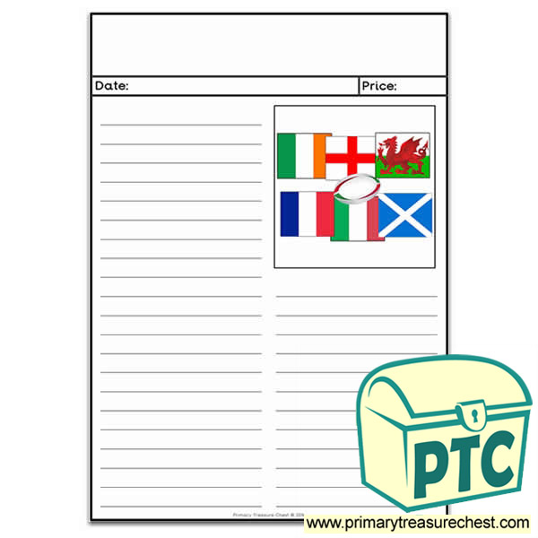 Six Nations Rugby Newspaper Worksheet