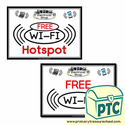 'FREE WiFi' and 'WIFI Hotspot' Posters