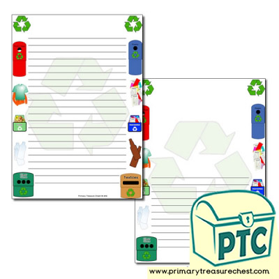 Recycling Page Border/Writing Frame (narrow lines)