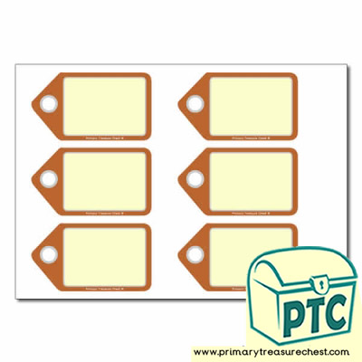 Fast Food Takeaway Role Play Tags/ Labels