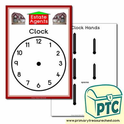 Estate Agents Role Play Clock