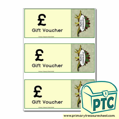 Role Play Dinosaur Cafe Shopping vouchers