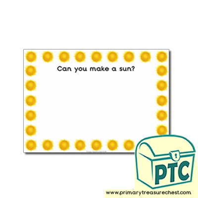 Sun Themed Topic Playdough Mat