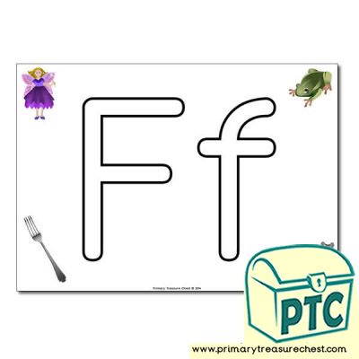 'Ff' Upper and Lowercase Bubble Letters A4 Poster, containing high quality, realistic images