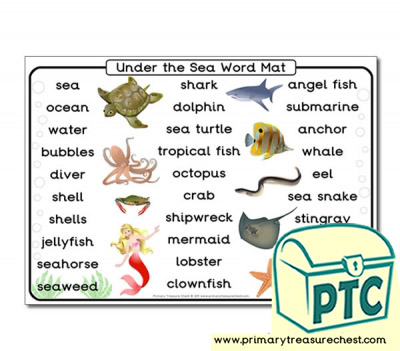 Under the Sea Themed Word Mat