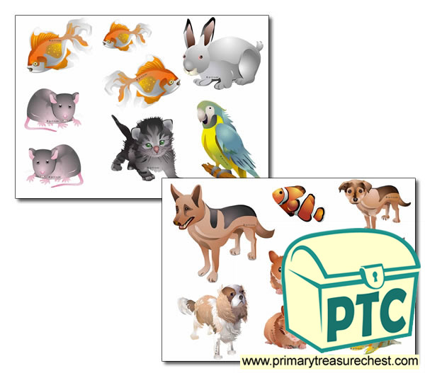 Pet Themed Storyboard / Cut & Stick Images