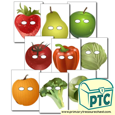 Fruit and Vegetable Role Play Masks
