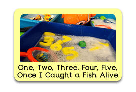 1, 2, 3, 4, 5, Once I caught a Fish Alive Themed Tuff Trays for Toddlers-EYFS Children - Learning Through Play Sessions
