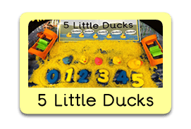 Five Little Ducks Themed Tuff Trays for Toddlers-EYFS Children - Learning Through Play Sessions