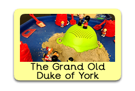 Grand Old Duke of York Themed Tuff Trays for Toddlers-EYFS Children - Learning Through Play Sessions