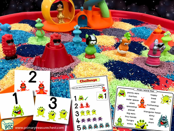 This multi-sensory SPACE tuff tray activity is ideal to use with EYFS / KS1 or children with additional learning needs to help celebrate World Space Week (Oct 4-10th), or for any Space topic theme - Space Role Play Sensory Play - Tuff Tray Ideas Early Years / Nursery / Primary