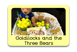 Goldilocks and the Three Bears Themed Tuff Trays for Toddlers-EYFS Children - Learning Through Play Sessions